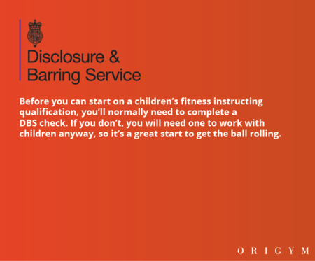 personal trainer for kids: DBS check info