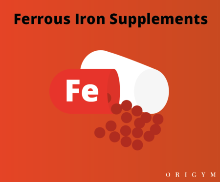 exercise after giving blood: ferrous iron supplements