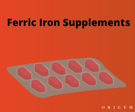 exercise after giving blood: ferric iron supplements