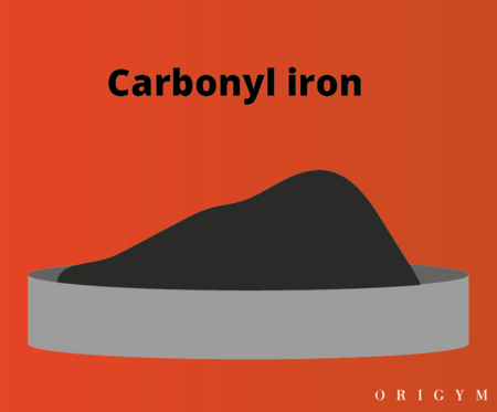 exercise after giving blood: carbonyl iron