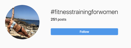 popular fitness hashtags image