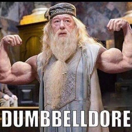 Fitness memes: dumbelldore second image