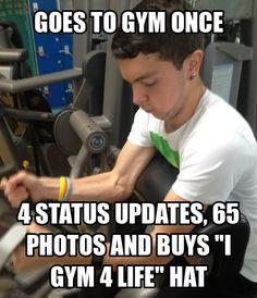 Fitness memes: goes to the gym once meme