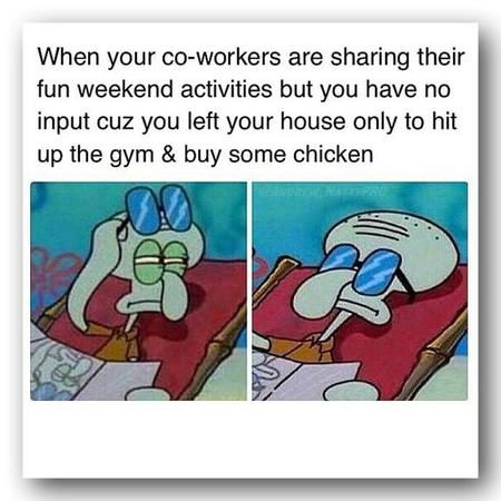 Fitness memes: only left your house to buy chicken meme
