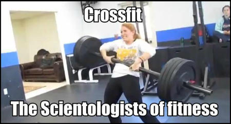fitness memes: crossfit the scientologists of fitness