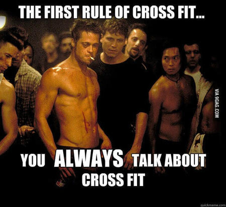 fitness memes: the first rule of crossfit
