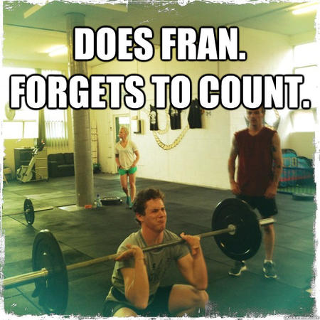 fitness memes: does fran forgets to count