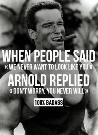 fitness memes: arnold motivation meme