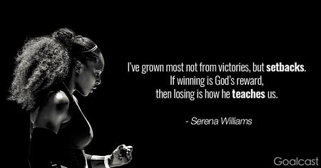 fitness memes: i've grown from setbacks serena williams