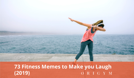 fitness memes: header image of woman dabbing