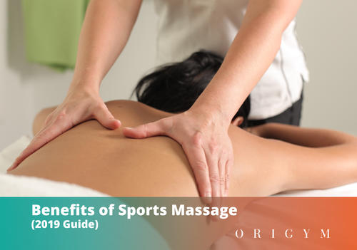 Benefits of sports massage: header image of sports massage therapist with client