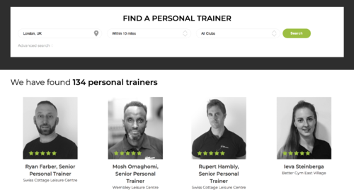 Finding a personal trainer image