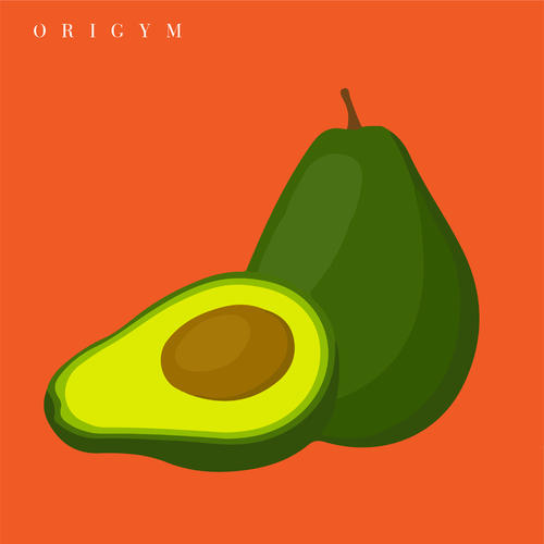 how to get a summer body: avocado graphic