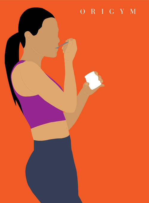 how to get a summer body: yogurt graphic for probiotics