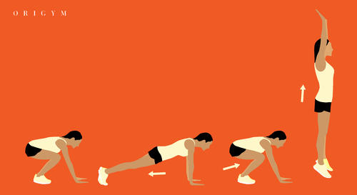how to get a summer body: burpees graphic