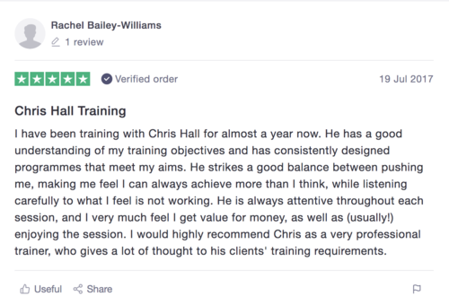 Personal trainer reviews image