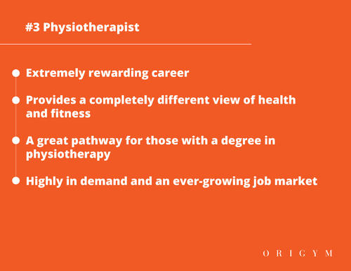 Highest paying fitness jobs: physiotherapist graphic