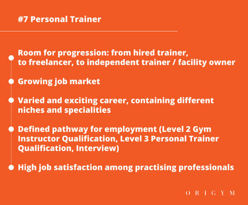 Highest paying fitness jobs: personal trainer graphic