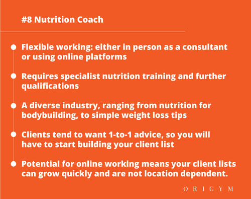 highest paying fitness jobs: nutrition coach