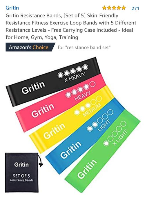 best resistance bands: gritin picture