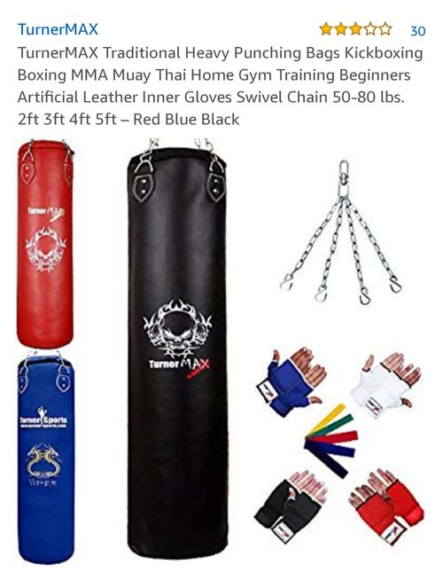 best punching bag: turnermax set