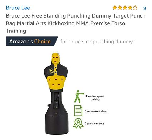 best punching bag: bruce lee dummy