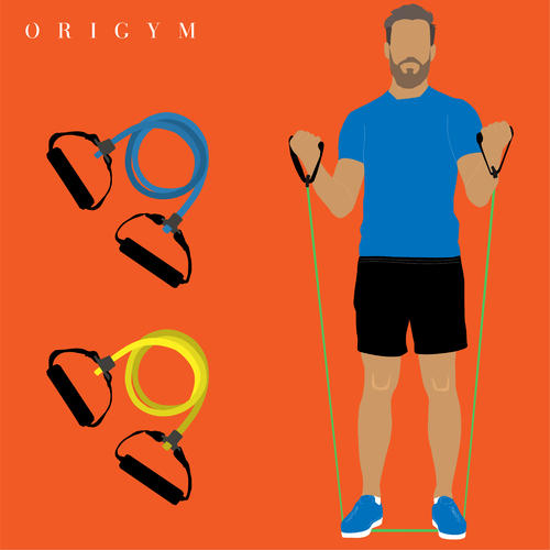 benefits of resistance bands: resistance tubes in different colours