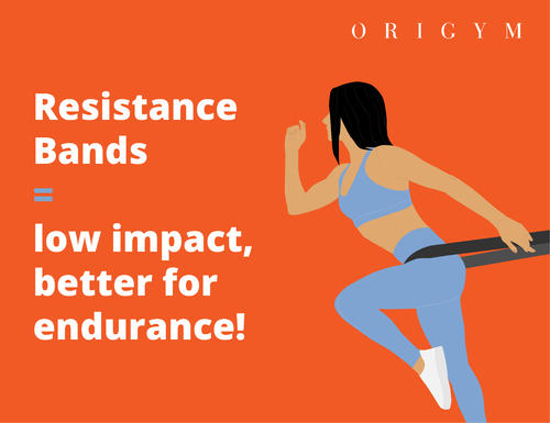 benefits of resistance bands: low impact