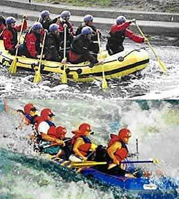 white water rafting for charity image