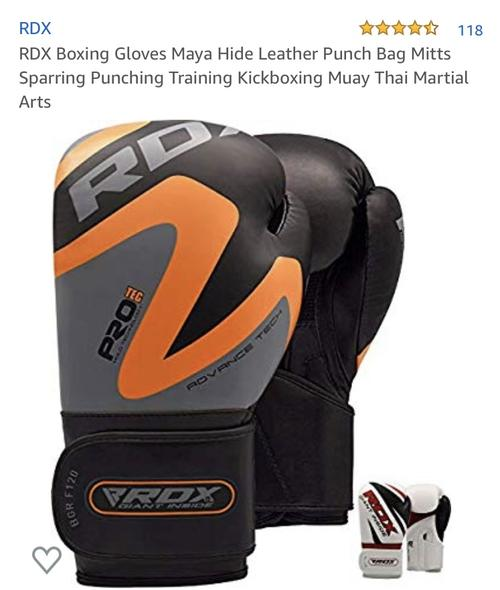 best boxing gloves: rdx orange gloves