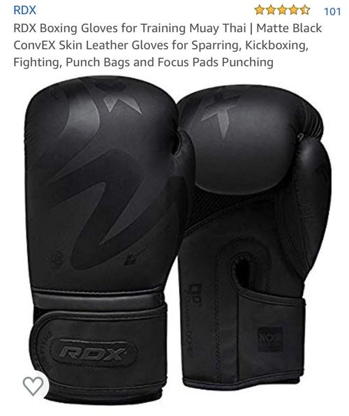 best boxing gloves: rdx gloves full black