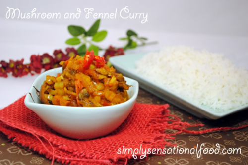 nutrition blogs: mushroom and fennel curry