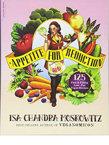 best vegan cookbooks: appetite for reduction book cover image