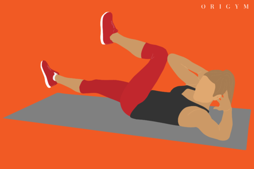 types of body fat: bicycle crunches