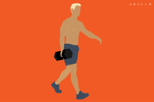 best forearm exercises: suitcase carry