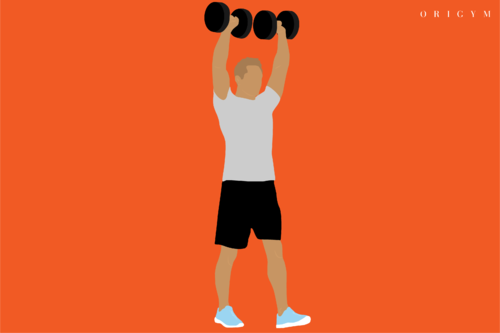 best forearm exercises: overhead carry