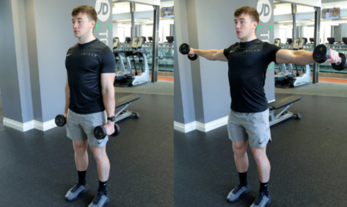 how to do lateral raise image