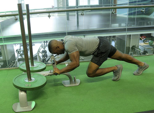 low grip on the prowler sled