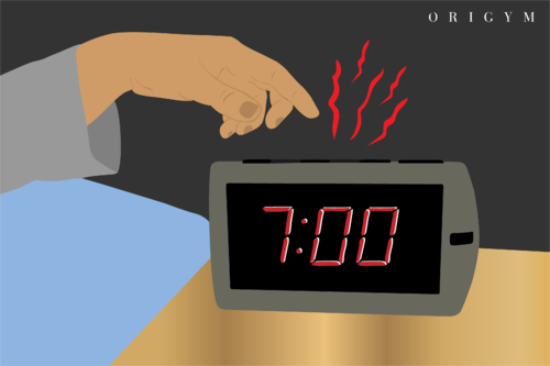 alarm going off early graphic