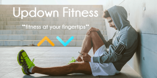 updown fitness personal trainer software logo