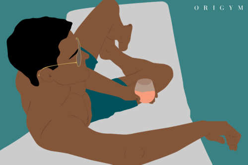 graphic of a man relaxing