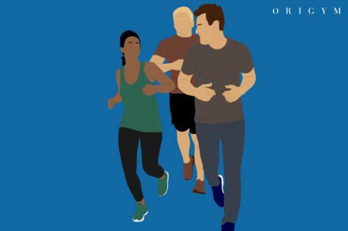 group exercise classes image - men and women running