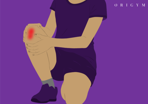 graphic showing knee pain