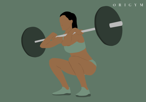 image of woman doing a front squat