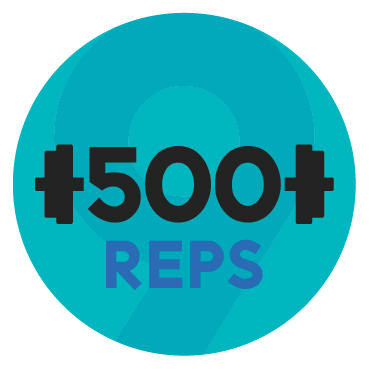 500 reps challenge graphic
