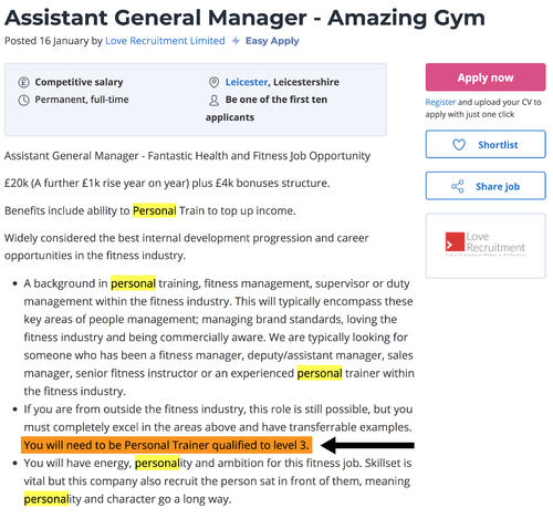 health club general manager salary image