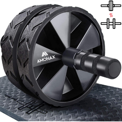 ab wheel with foot straps