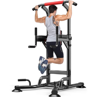 Adjustable Pull Up Bars Dip Station Power Tower Stand Strength Training for Home indoor Gym Free Standing Workout Fitness Equipment