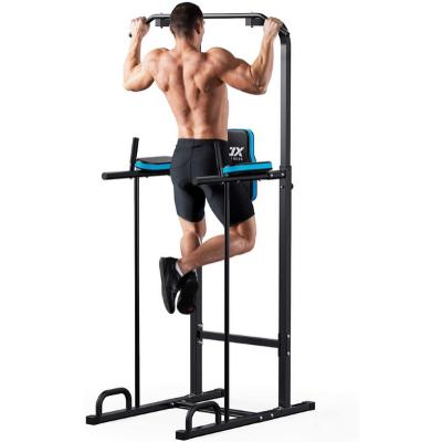 LETGOSPT Dip Station Pull Up Bar Fitness Power Tower Exercise Equipment Machine