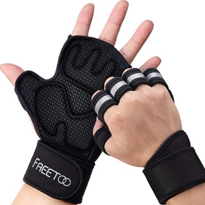 Breathable Stretchy Mesh Back Fitness Gloves Lightweight Workout Gloves Weight Lifting Gloves /& Rubber Grip Soft Pad FREETOO Gym Training Gloves for Women,